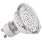 LED izzó (24 SMD 3014) 4.5W GU10 3000K
