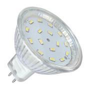LED izzó 16x3014 5W MR16 3000K 12V