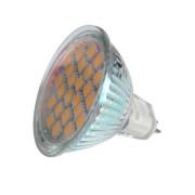 LED MR16 12V 24 LED 5050 meleg fehér